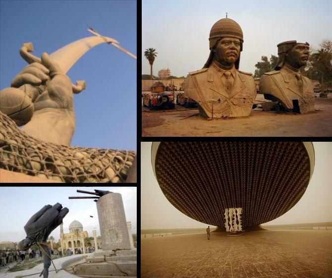 saddam hussein ruins monuments in baghdad iraq27